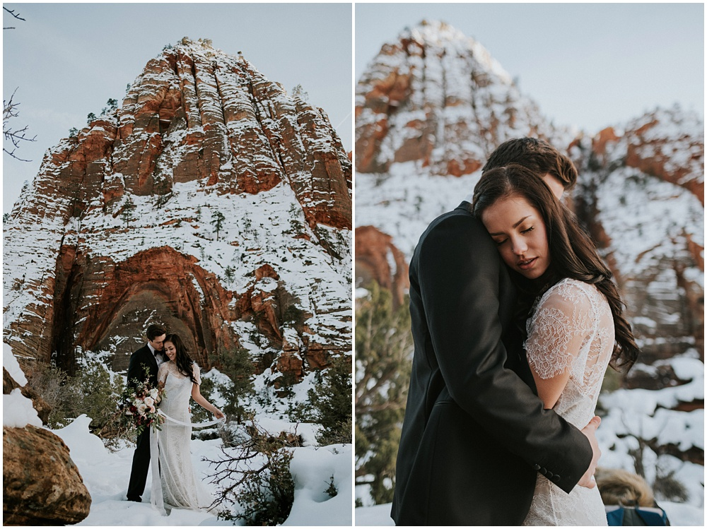 Couples Session Zion National Park Utah