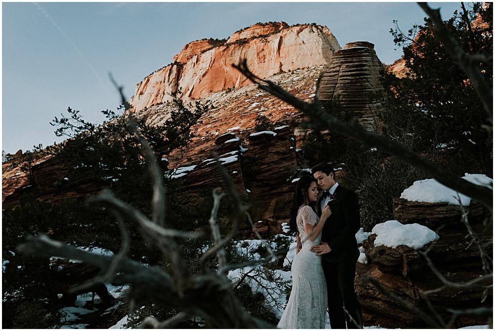 Zion National Park Elopement Cliffside