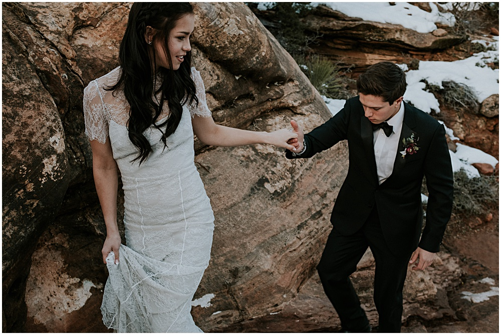 Elopement in Zion National Park