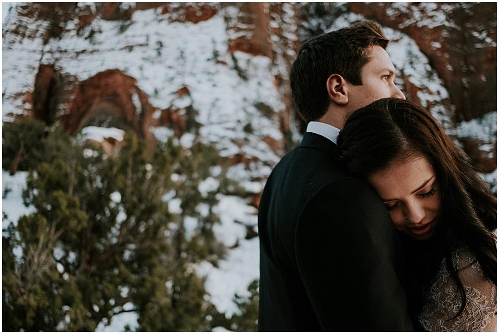 Elopement in Zion National Park Wedding