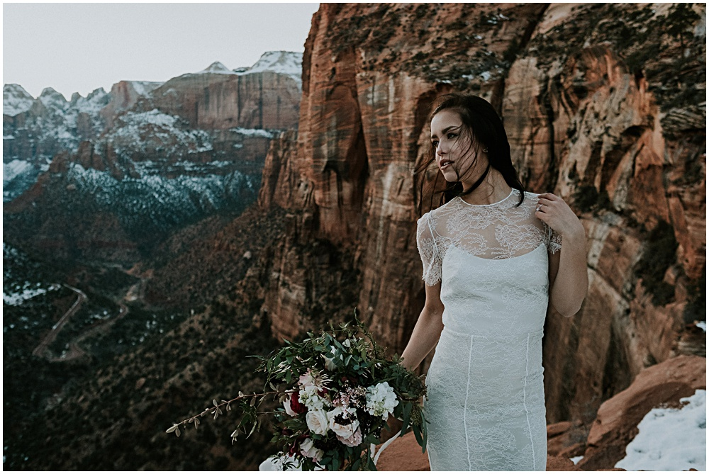 Bride in Zion National Park