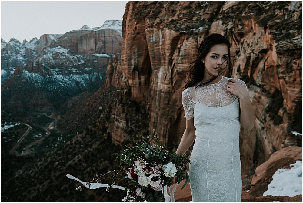 Bridal Portraits Zion National Park Utah