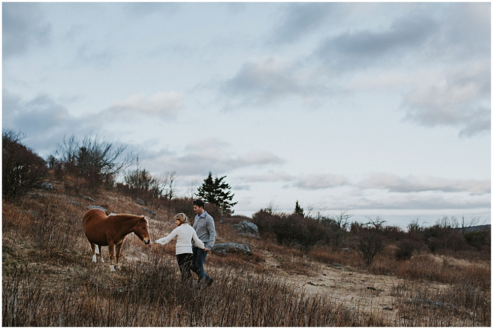 Adventure Engagement Session Grayson Highlands Virginia
