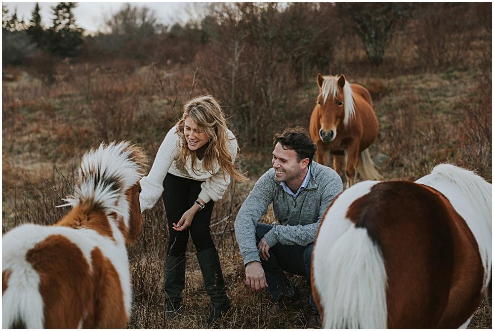 Wild Horses Engagement Session Virginia