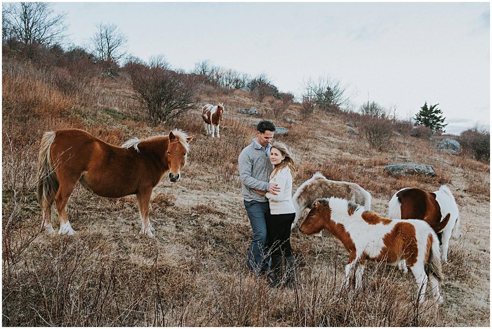 Wild Ponies Adventure Engagement