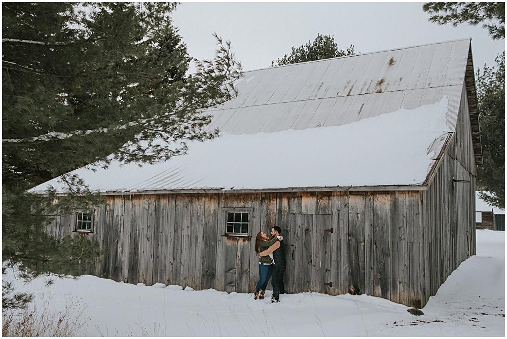 Sleeping Bear Barns Engagement Shoot
