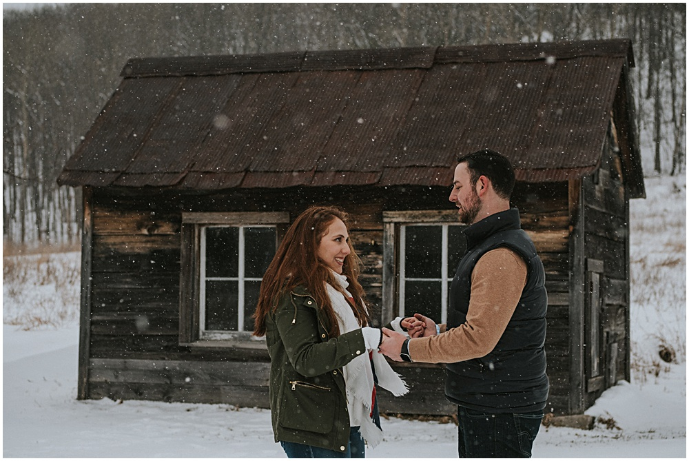 Winter Engagement Shoot Traverse City