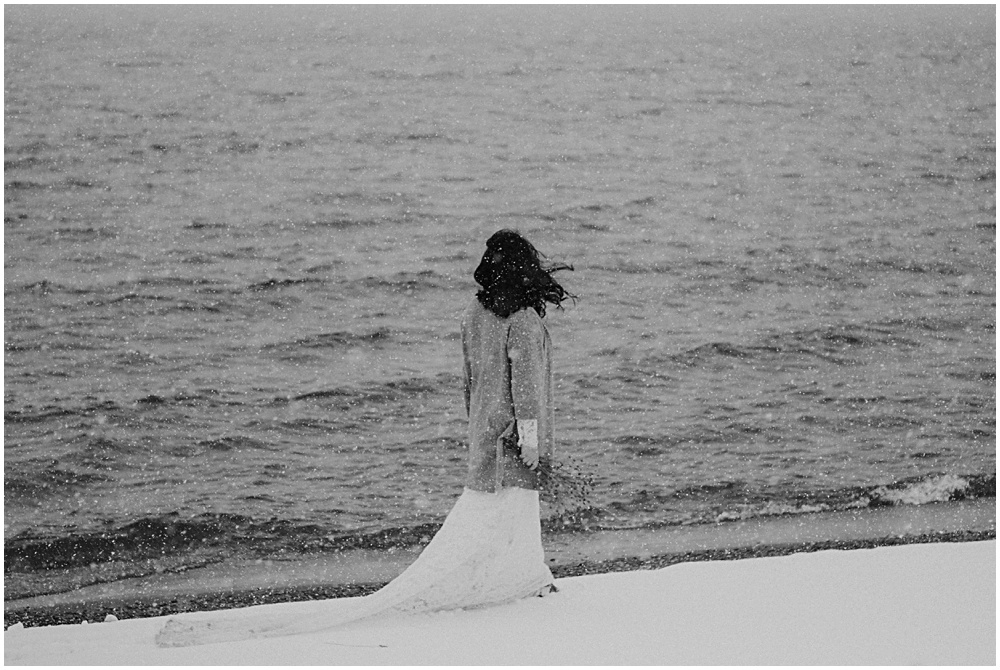 Lake Michigan Bridal Session