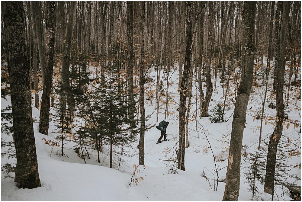 Winter Backpacking Munising Michigan