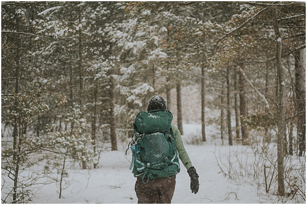 Northern Michigan Winter Backpacking