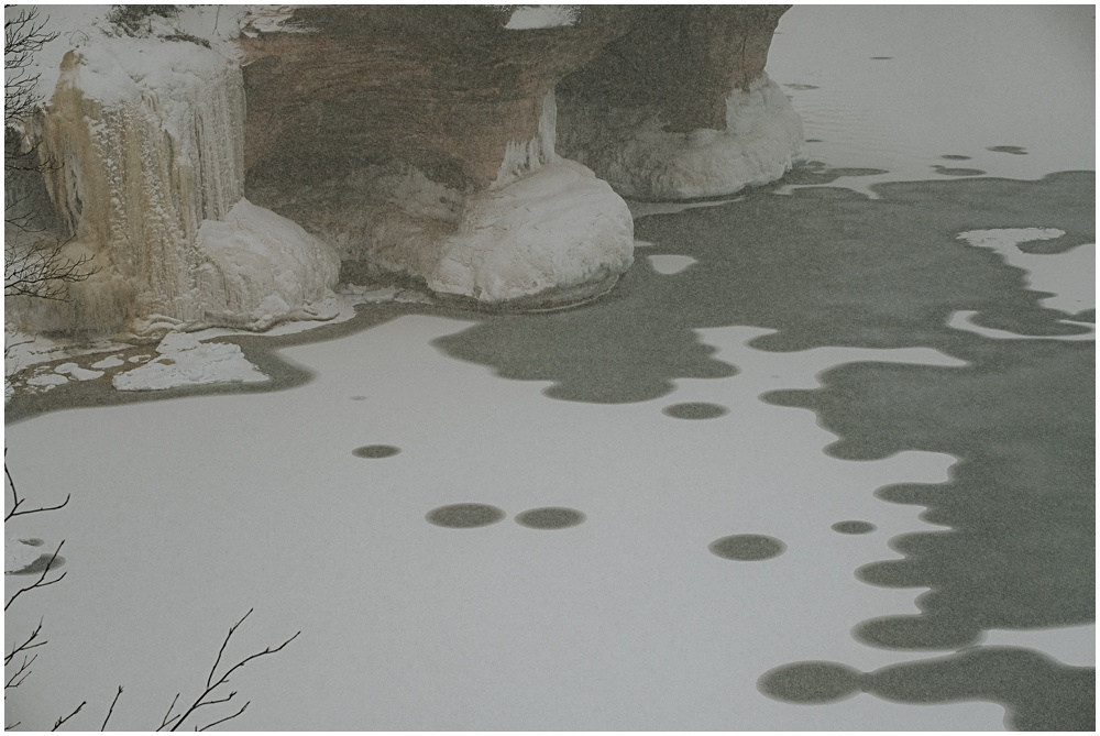 Pictured Rocks Lake Superior Winter
