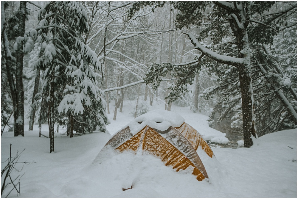 Winter Camping in Pictured Rocks