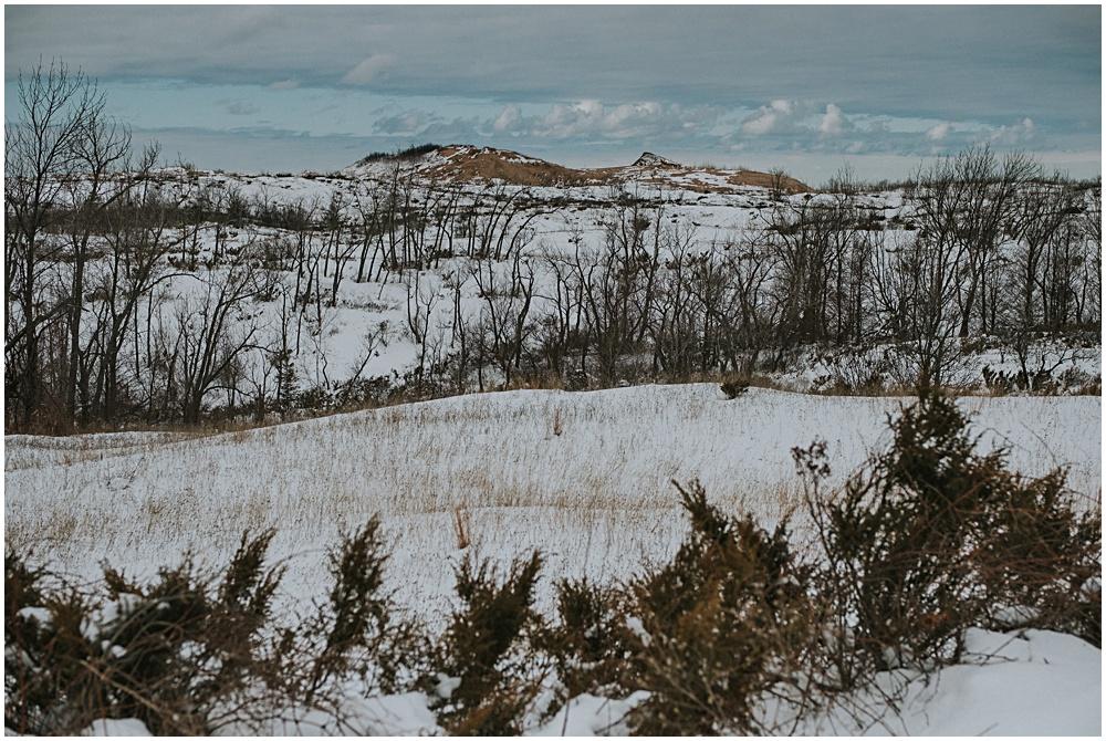 Winter at Sleeping Bear Dunes Traverse City Michigan