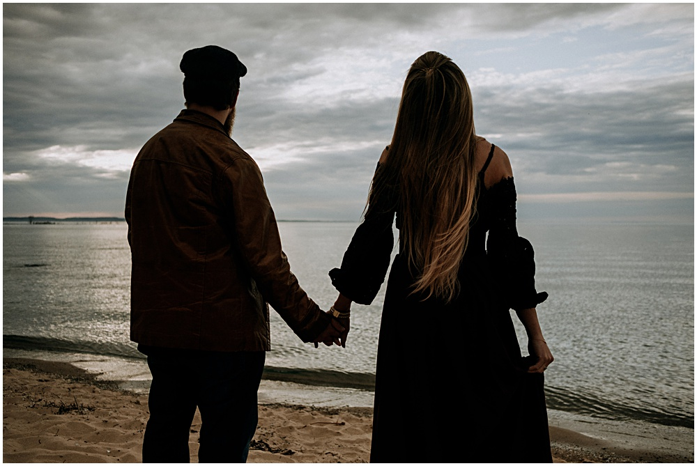 Grand Traverse Bay Engagement Shoot Beach