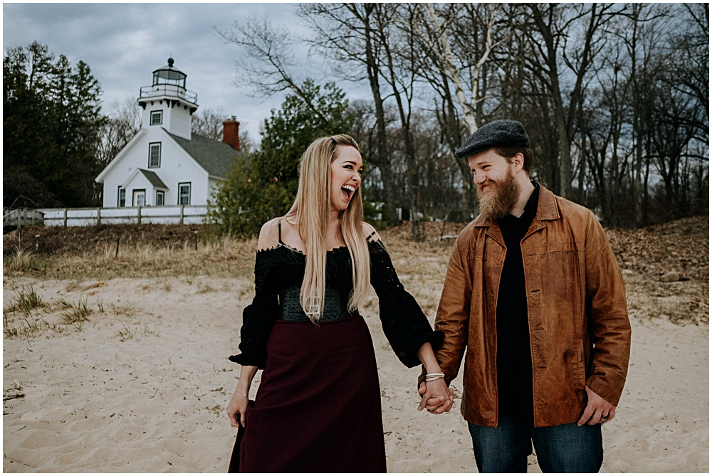 Old Mission Lighthouse Engagement Session