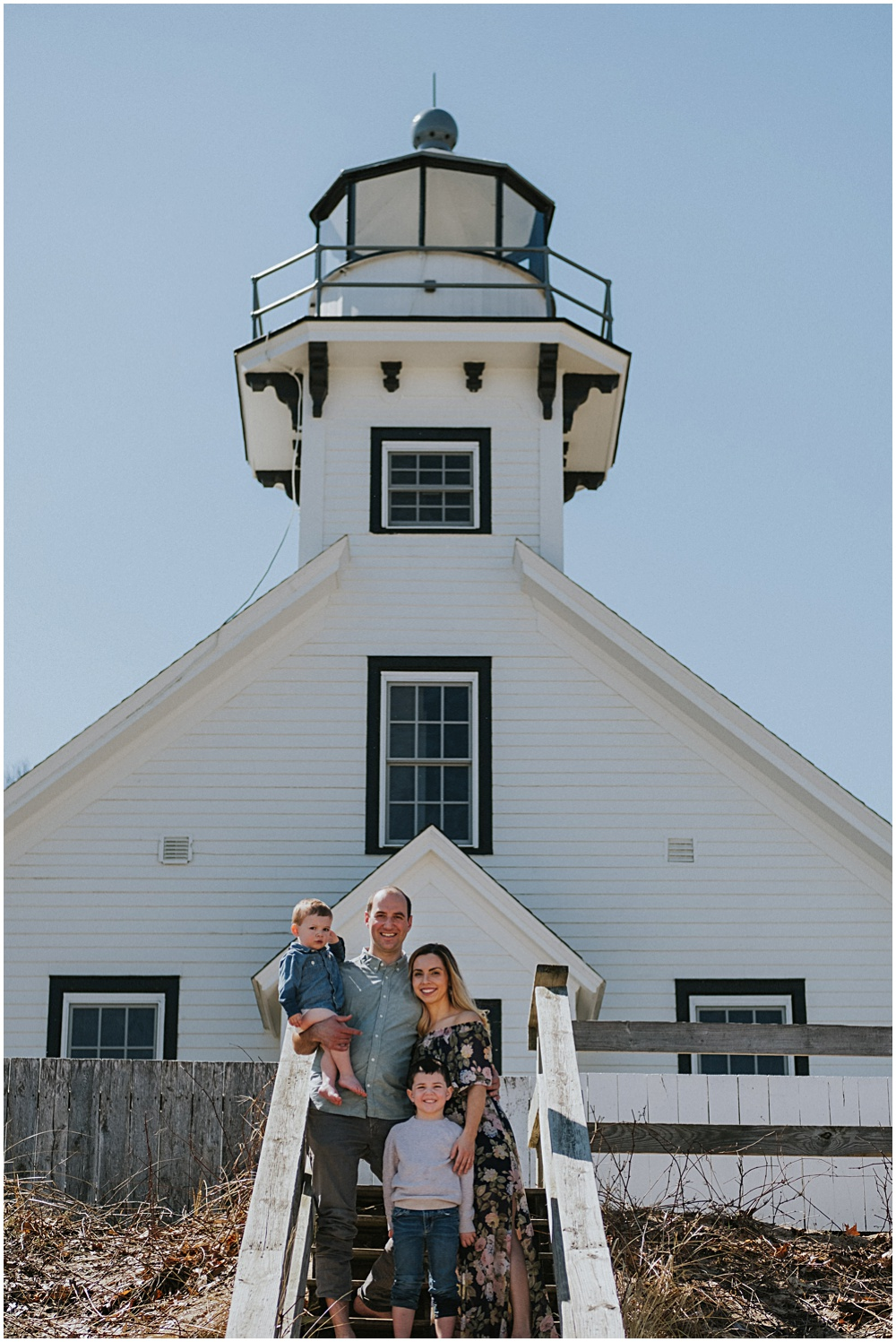 Old Mission Lighthouse Family Session