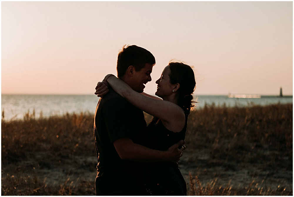 Couples Session Exploring Sleeping Bear Dunes