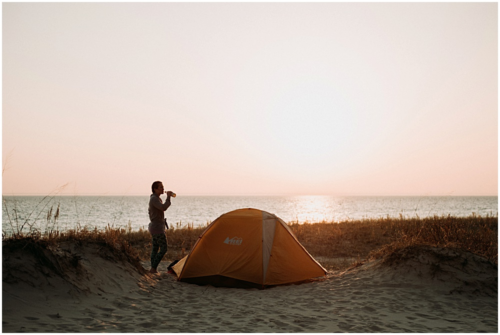 Tent Camping Exploring Sleeping Bear Dunes