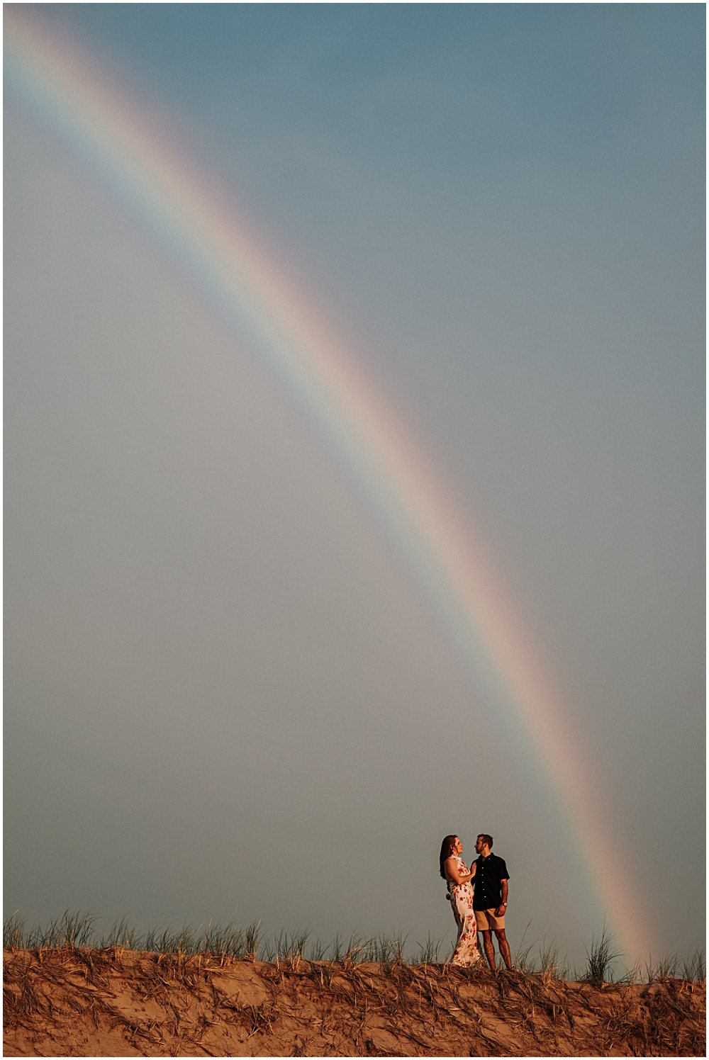 Glen Arbor Rainbow Engagement Session