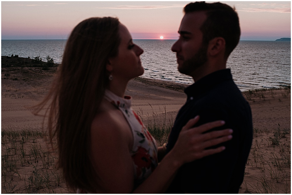 Lake Michigan Glen Arbor Engagement