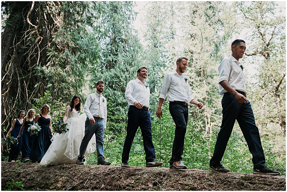 Bridal Party Hipster Elopement