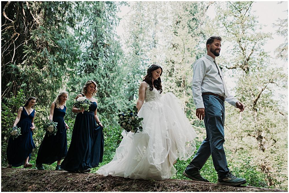 Bridal Party Seattle Washington Elopement