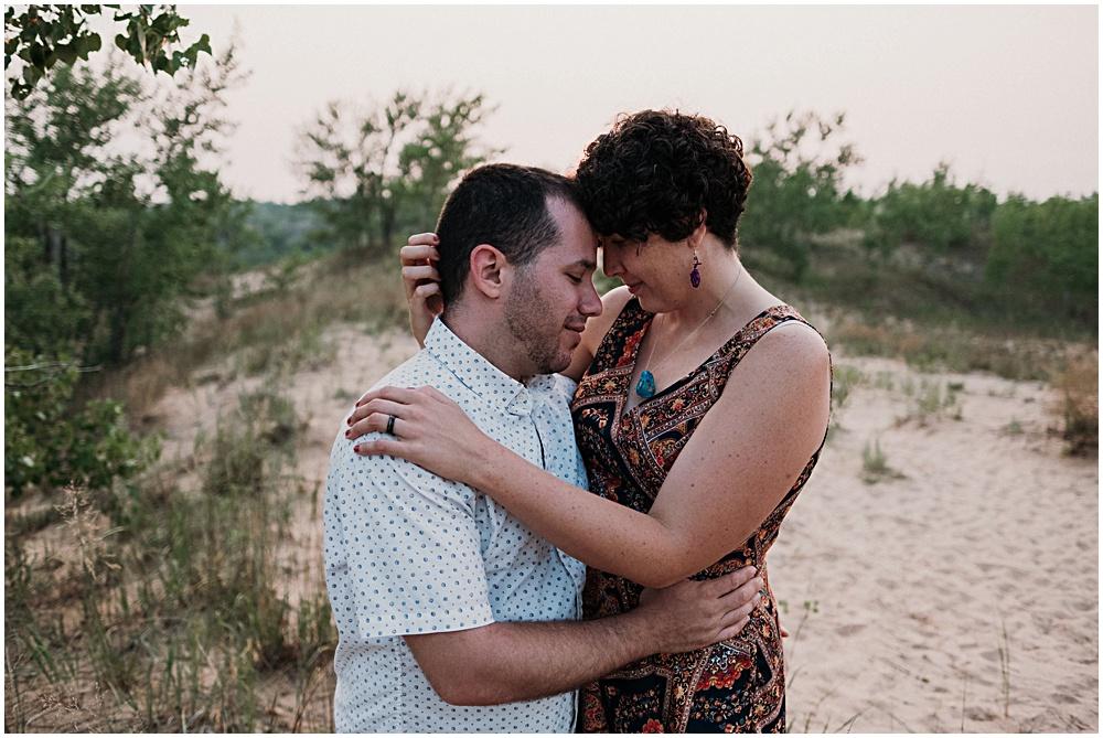 Dune Climb Engagement Photographer