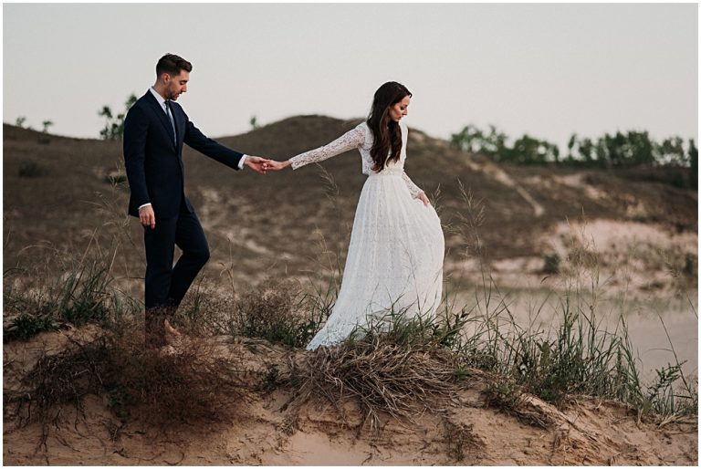 Dune Climb Elopement Photographer