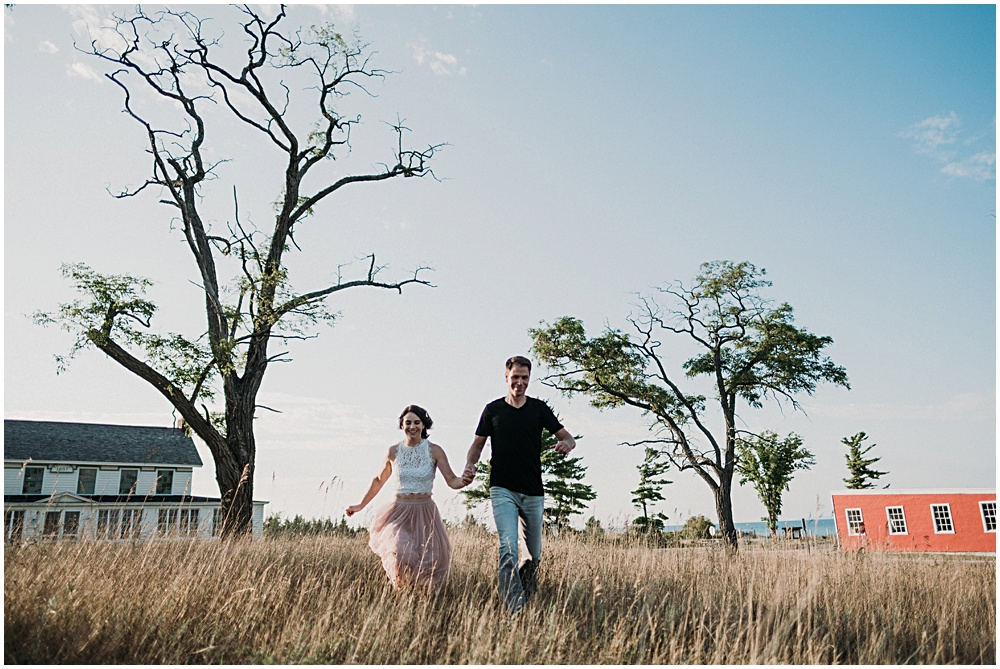 Leelanau Peninsula Engagement Photographer
