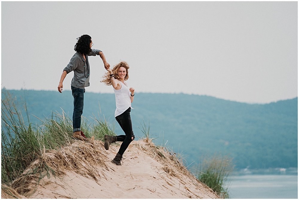 Candid Engagement Photographer Traverse City