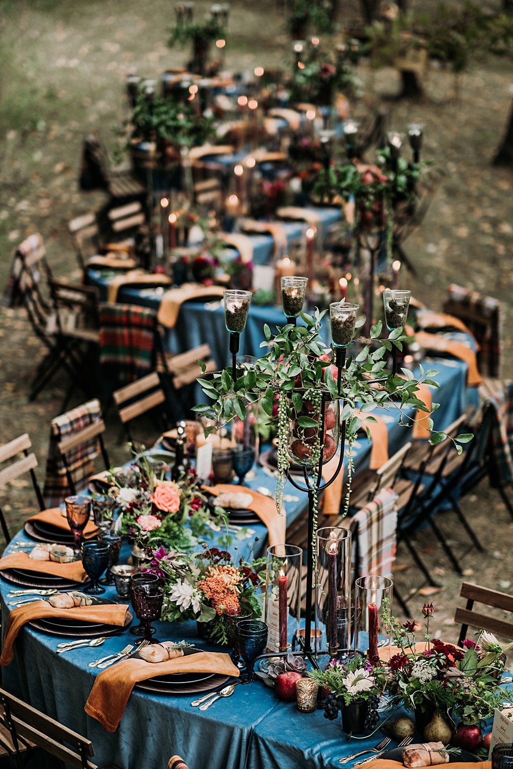 Old Mission Outdoor Reception Styled
