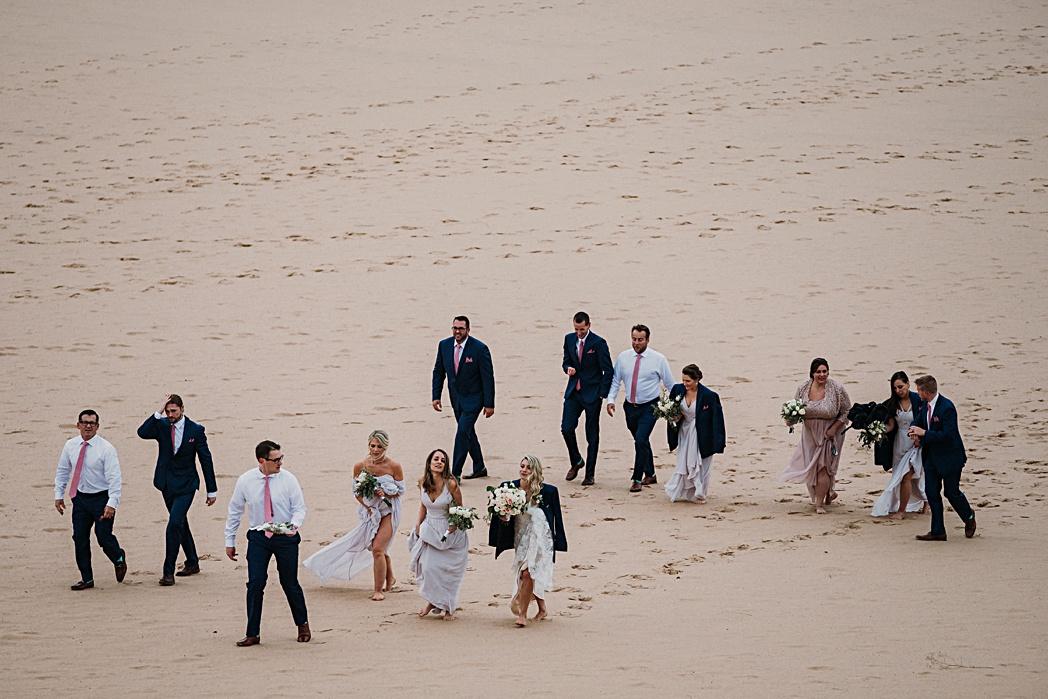 Bridal Party Glen Arbor Wedding