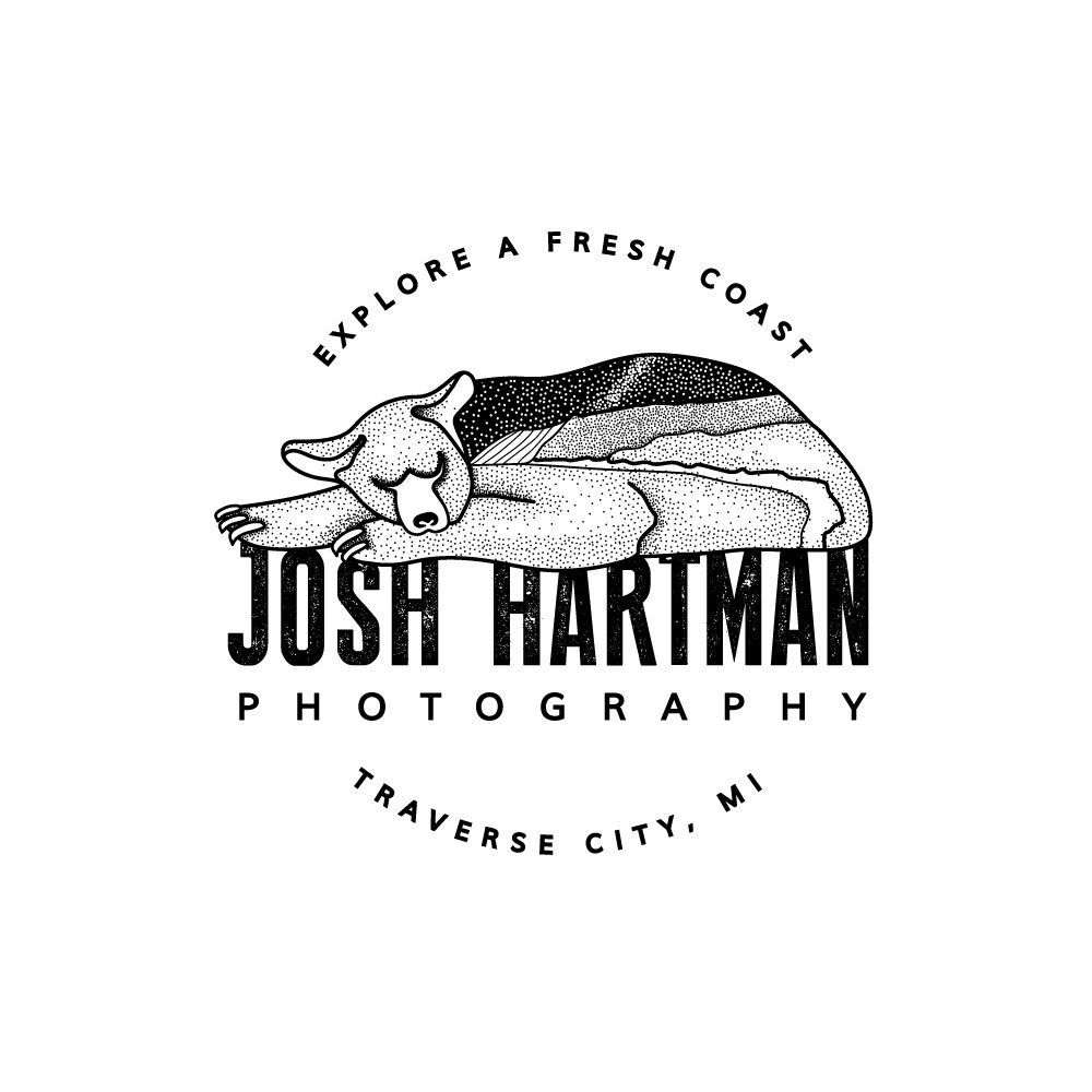 Josh Hartman Photography Sleeping Bear Dunes Logo Traverse City Wedding Photographer