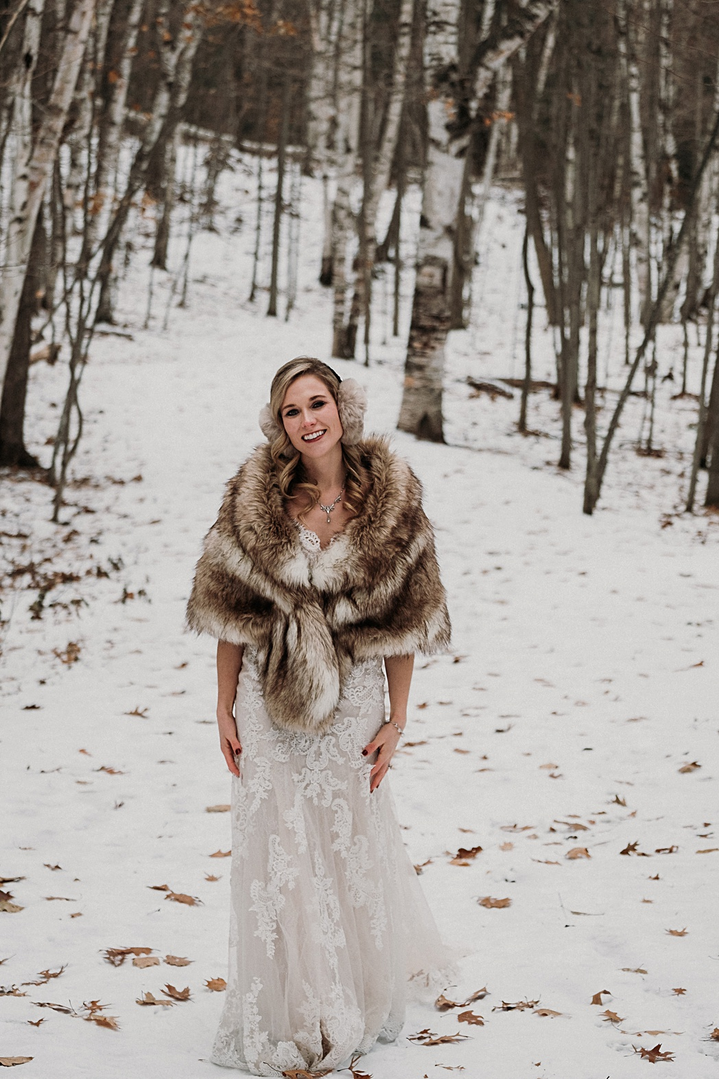 Traverse City Winter Bridal Photos