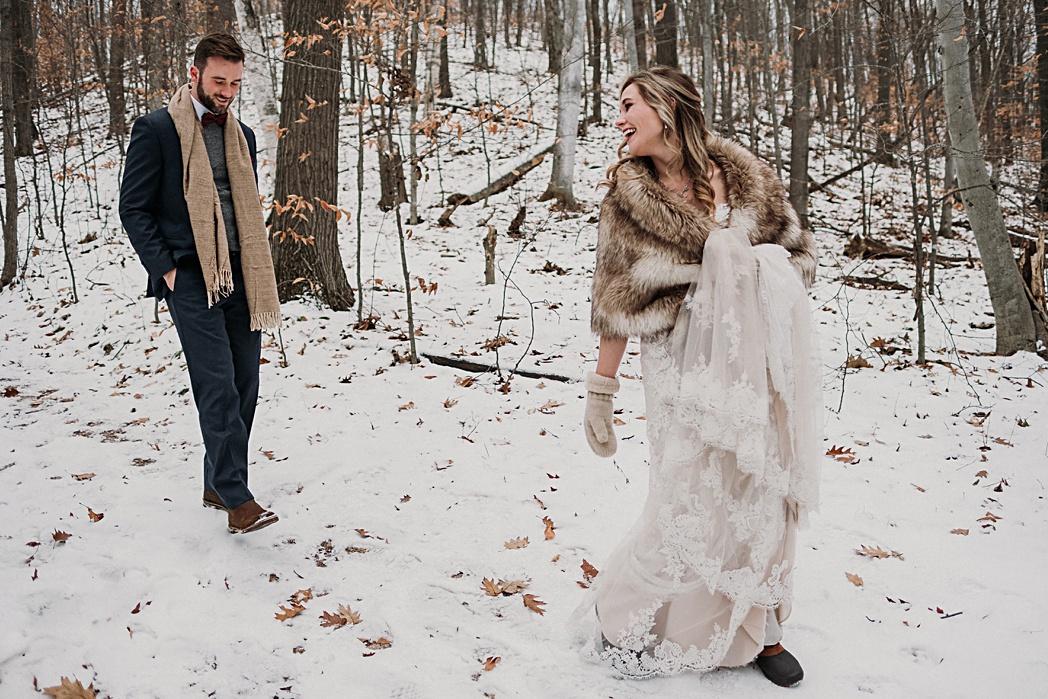 Traverse City Wedding Winter