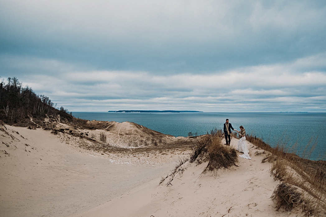 Sleeping Bear Dunes Winter Couples Session