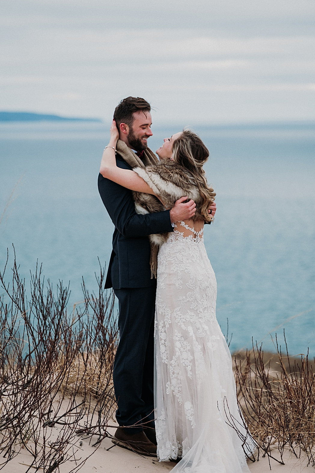 Lake Michigan Couples Session