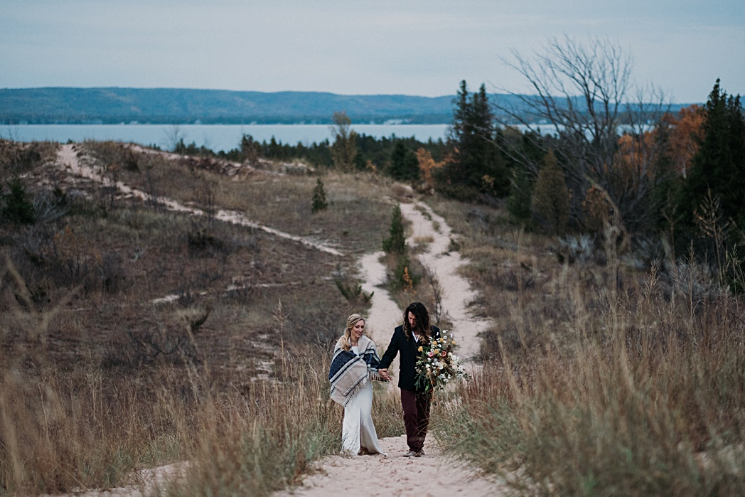 Adventure Session Nature Michigan Retreat Wedding