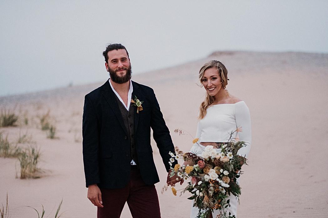 Couples Session Nature Michigan Retreat Wedding