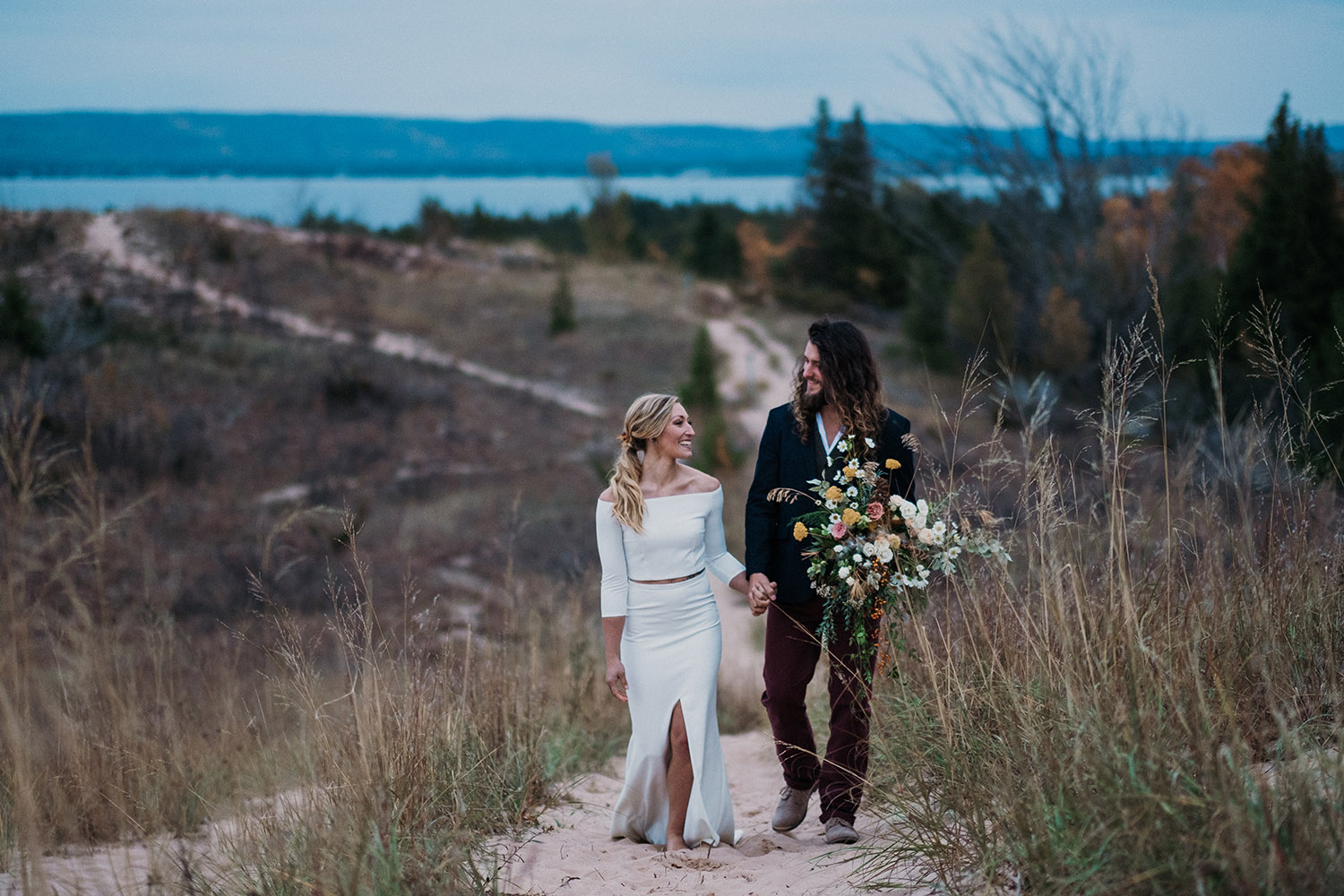 Paige and David | Styled Wedding at Nature Michigan Retreat