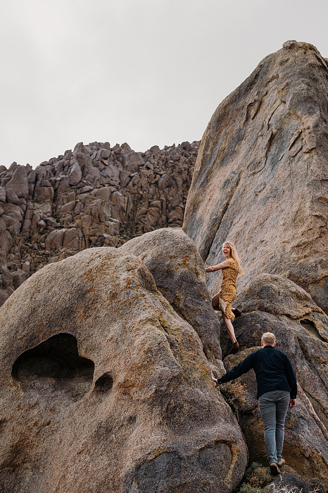 Climbing Alabama Hills Adventure