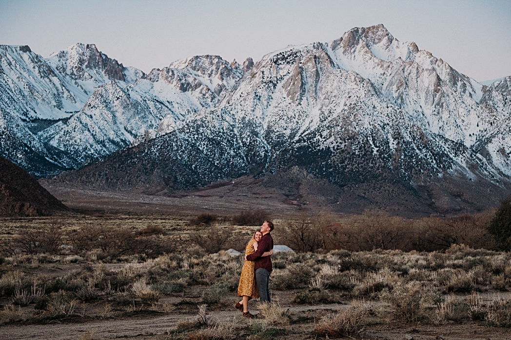 Engagement Session in California Alabama Hills