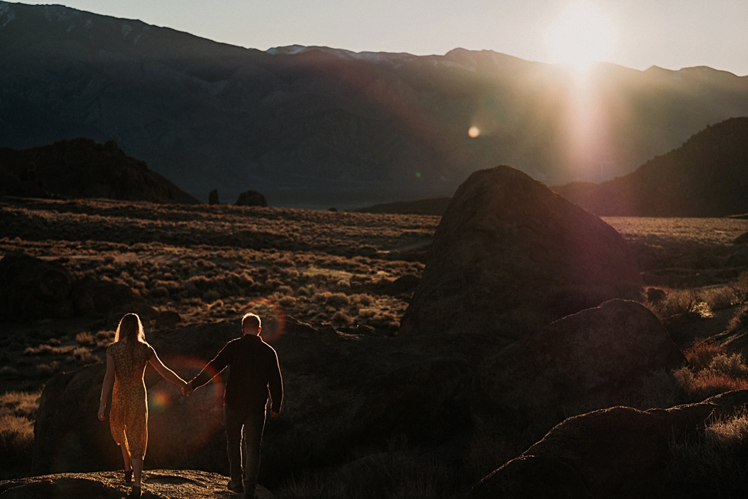 Alabama Hills Engagement Session California Mt Whitney