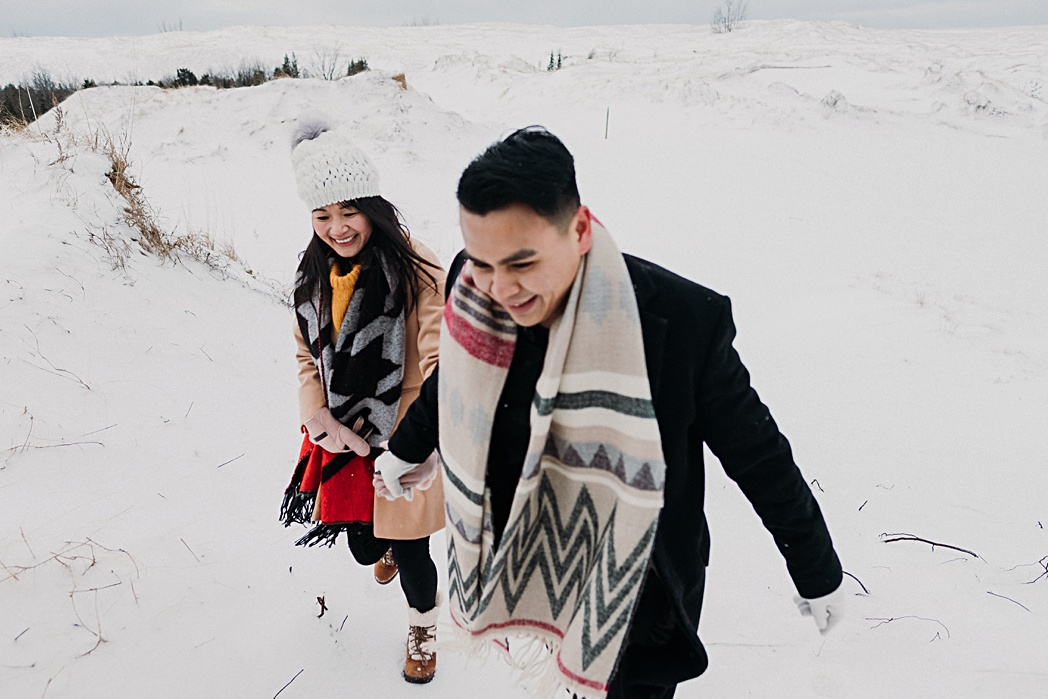 Winter Engagement Session Northern Michigan