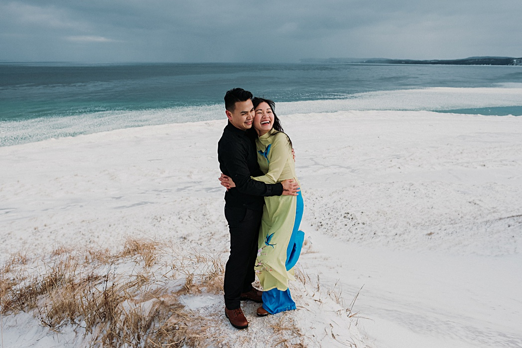 Northern Michigan Winter Engagement Session