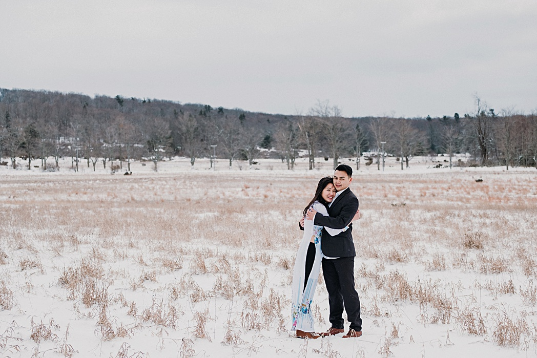 Sleeping Bear Dunes Winter Engagement