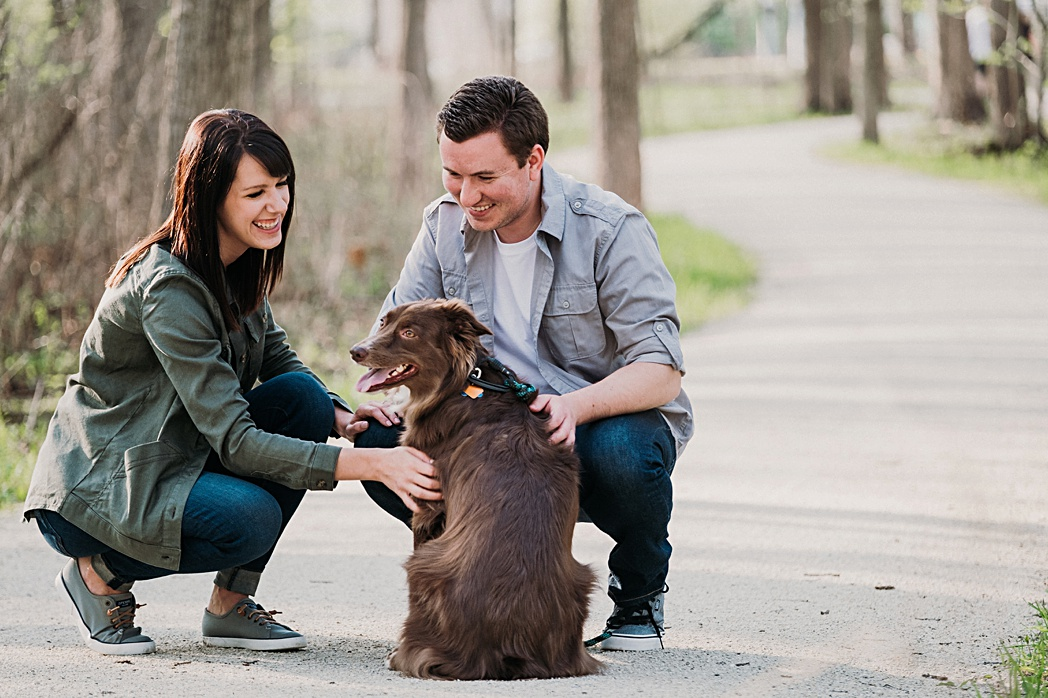 Dog Herrick Lake Engagement Session
