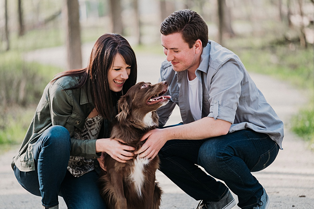 Dog Friendly Herrick Lake Engagement Session