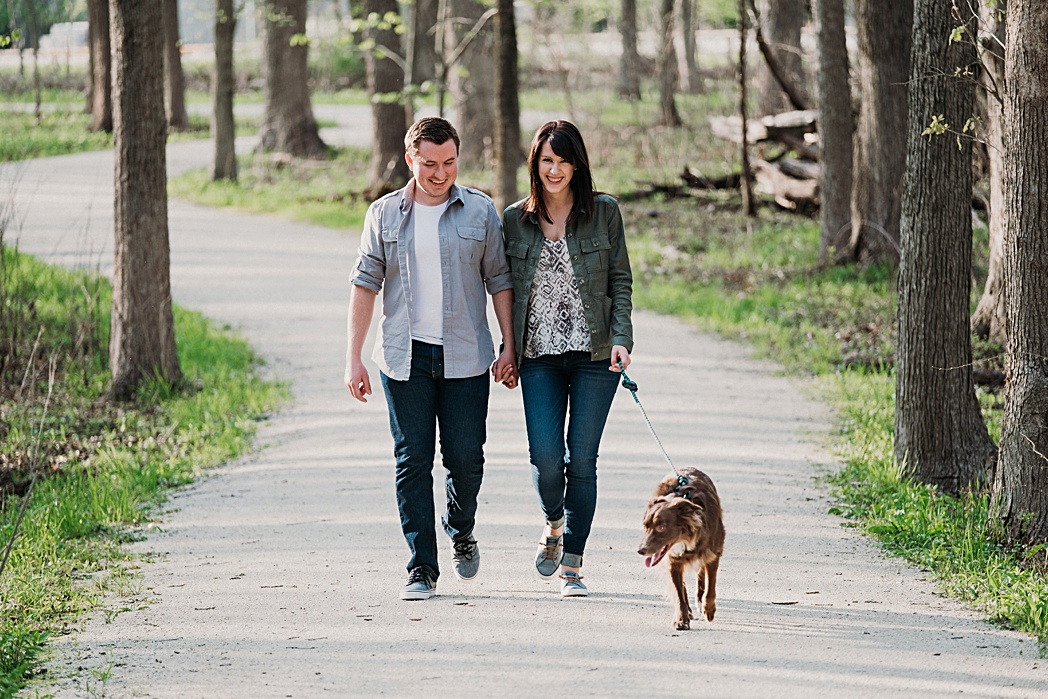 Herrick Lake Engagement Session in Wheaton Illinois