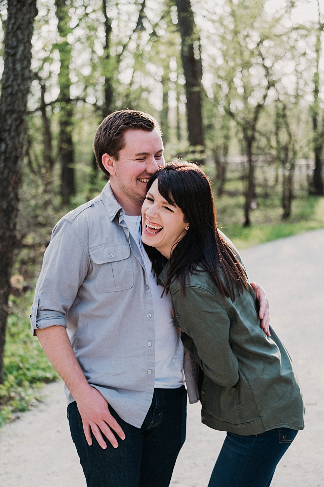 Herrick Lake Engagement Session Candid